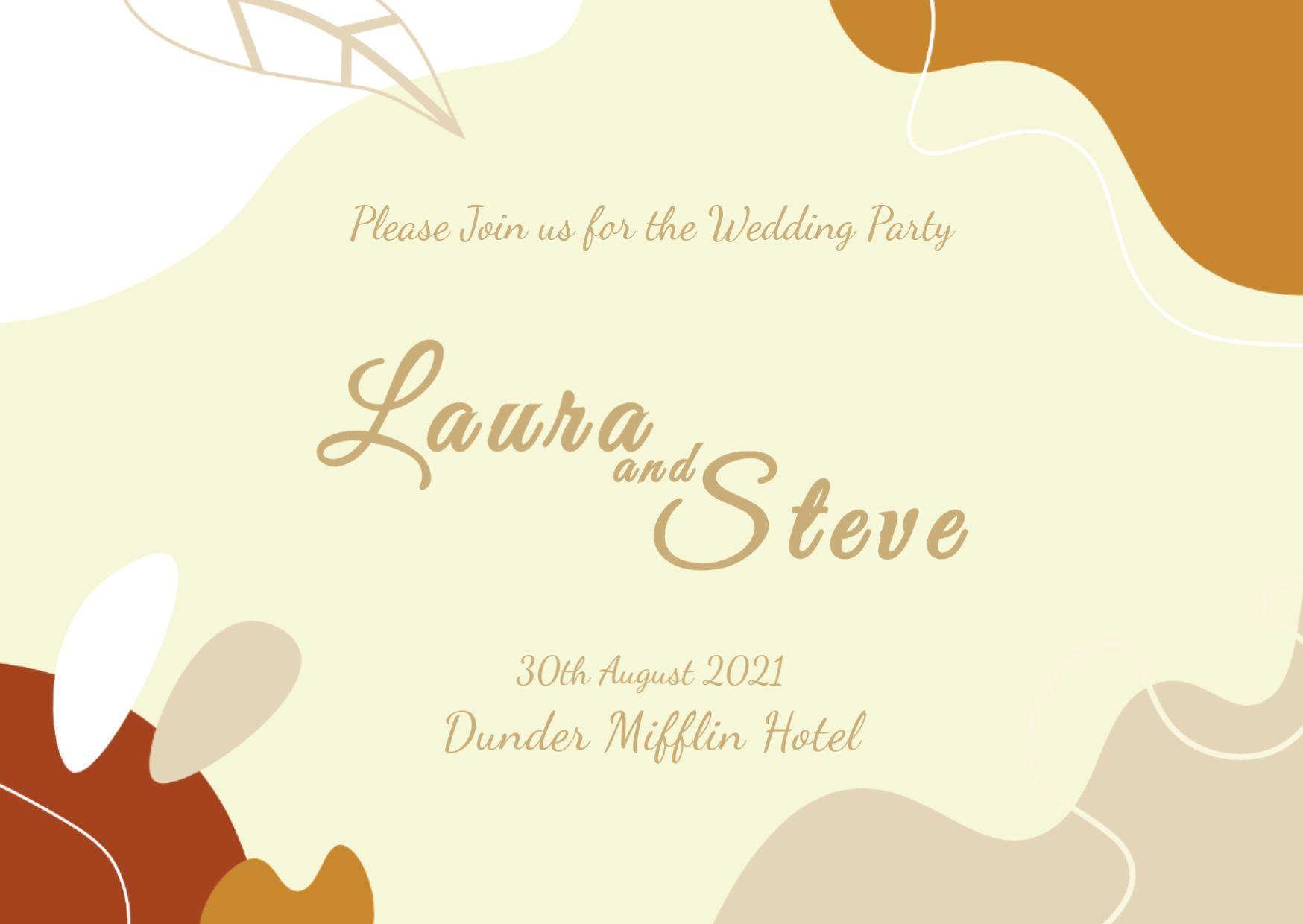 Beautiful Wedding Invitation Card Template