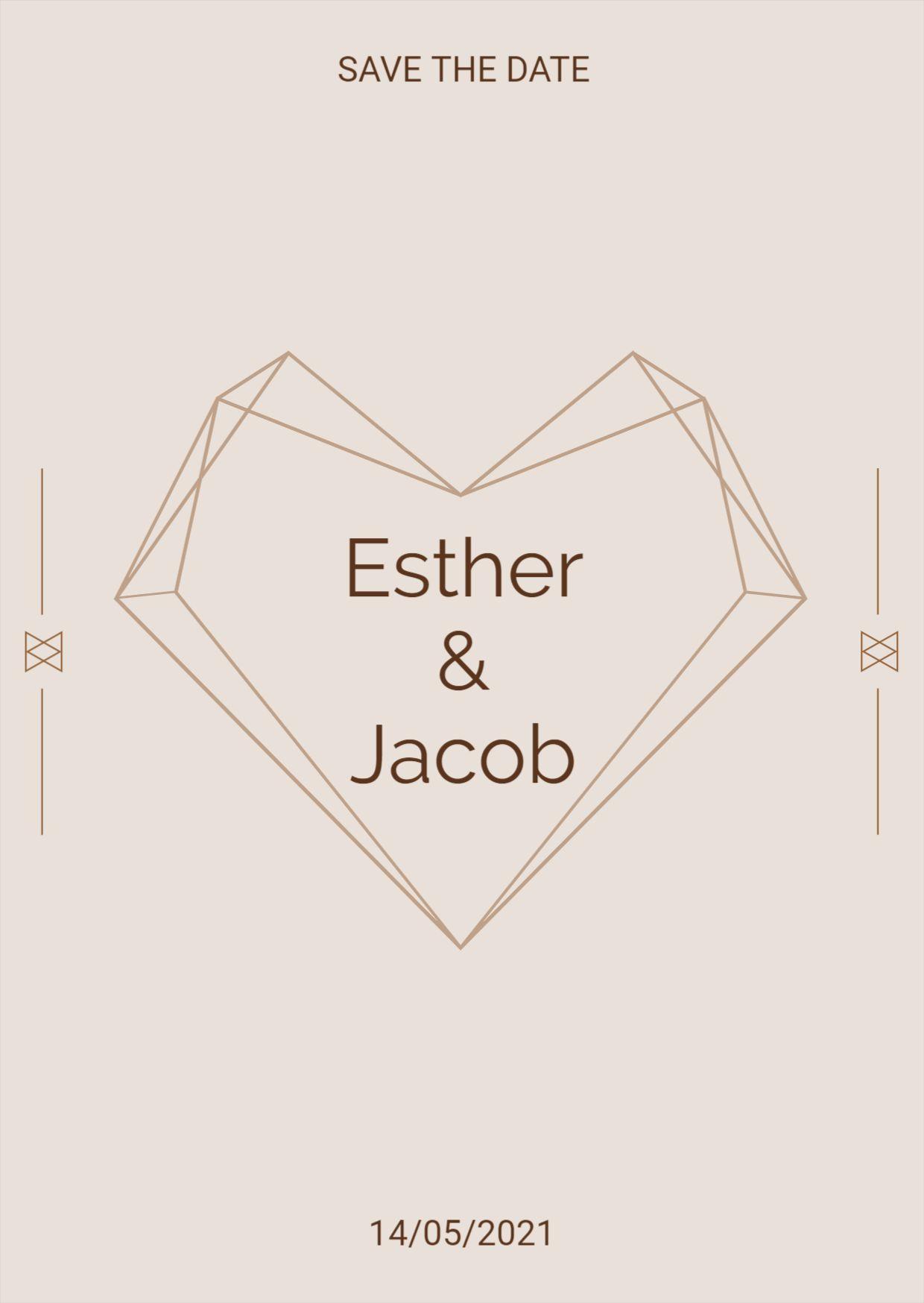 Stylish Wedding Label