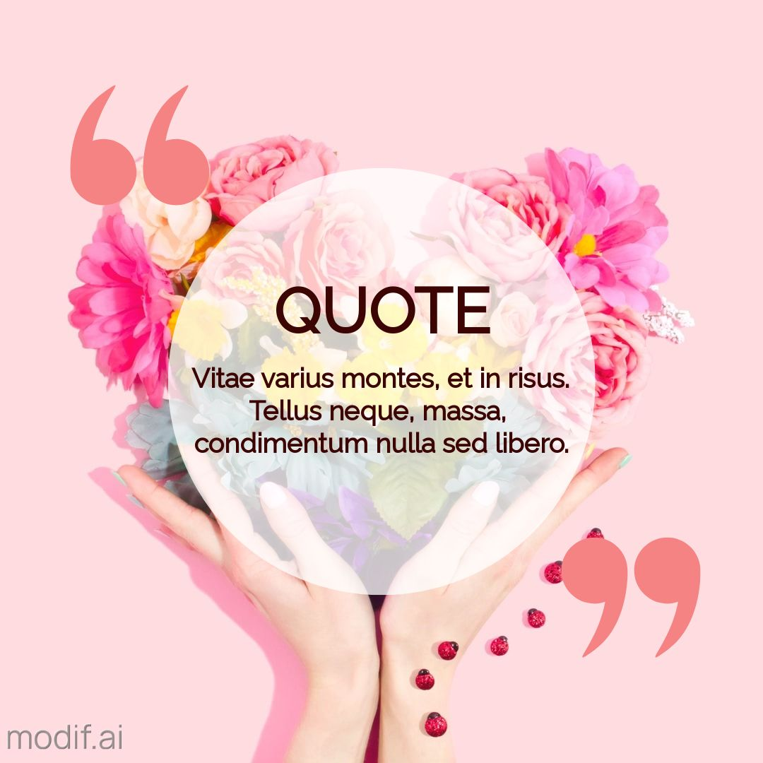Instagram Post Quote with Flowers