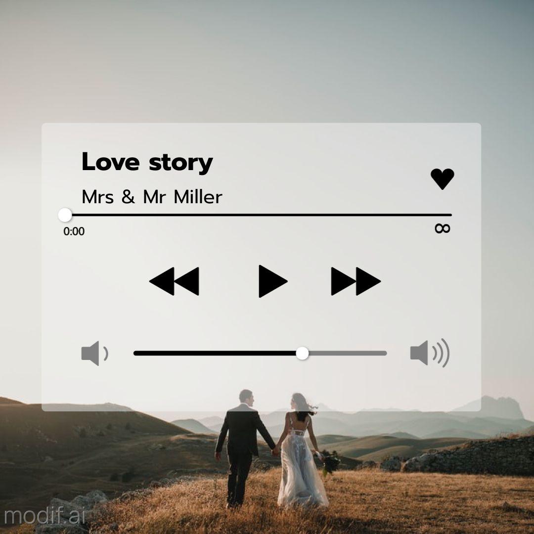 Love Music Playlist Instagram Post Template