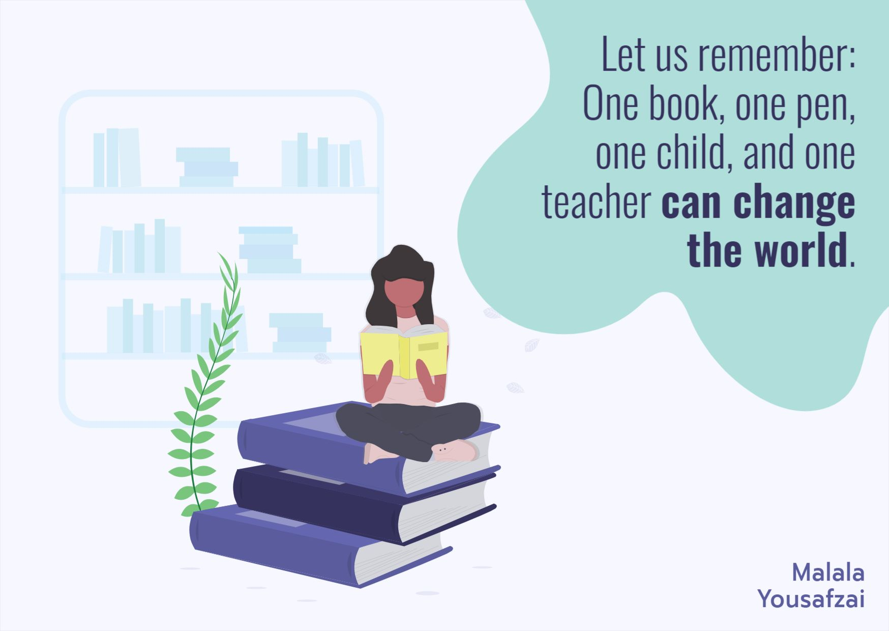Teacher and Education Quote Template