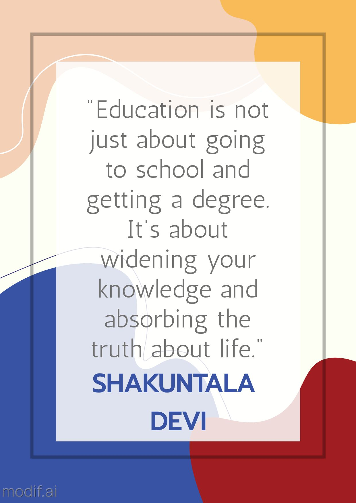 Education and Knowledge Motivational Quote