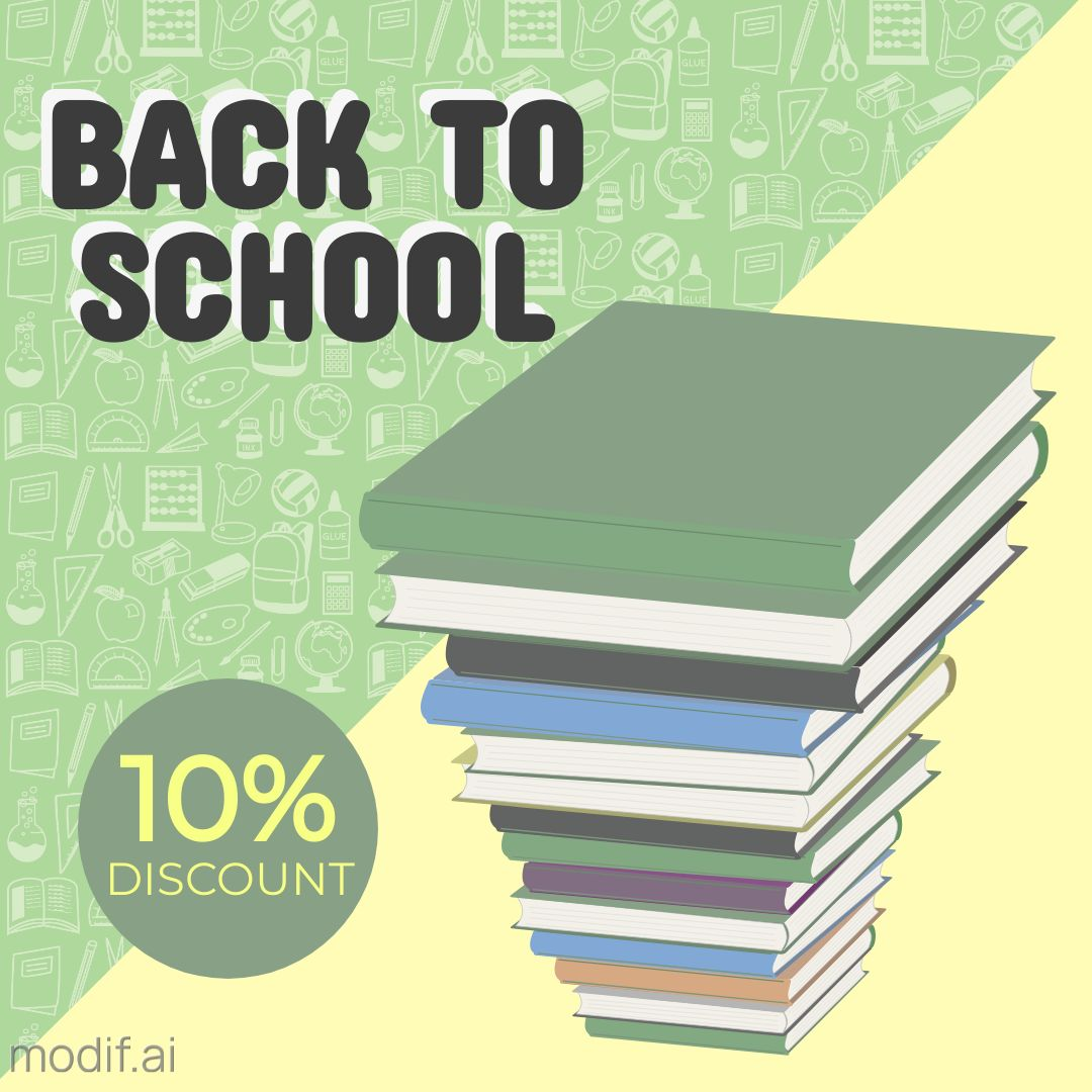 Back to School Discount Template