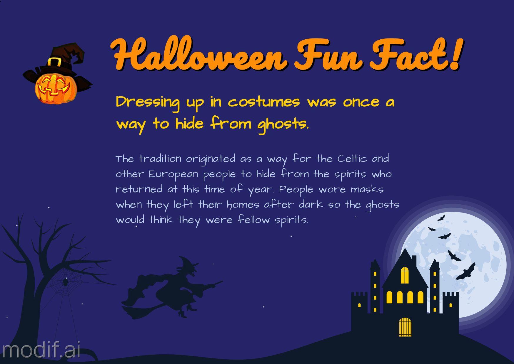 Halloween Fun Fact Template