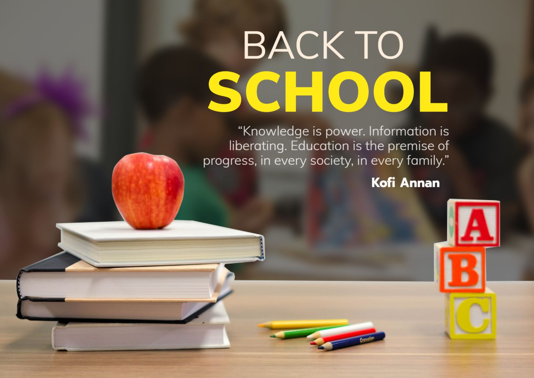 Back to School Quote Template