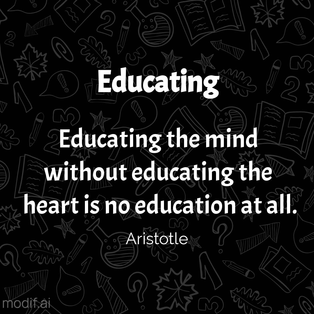 Quote about Educating Instagram Post