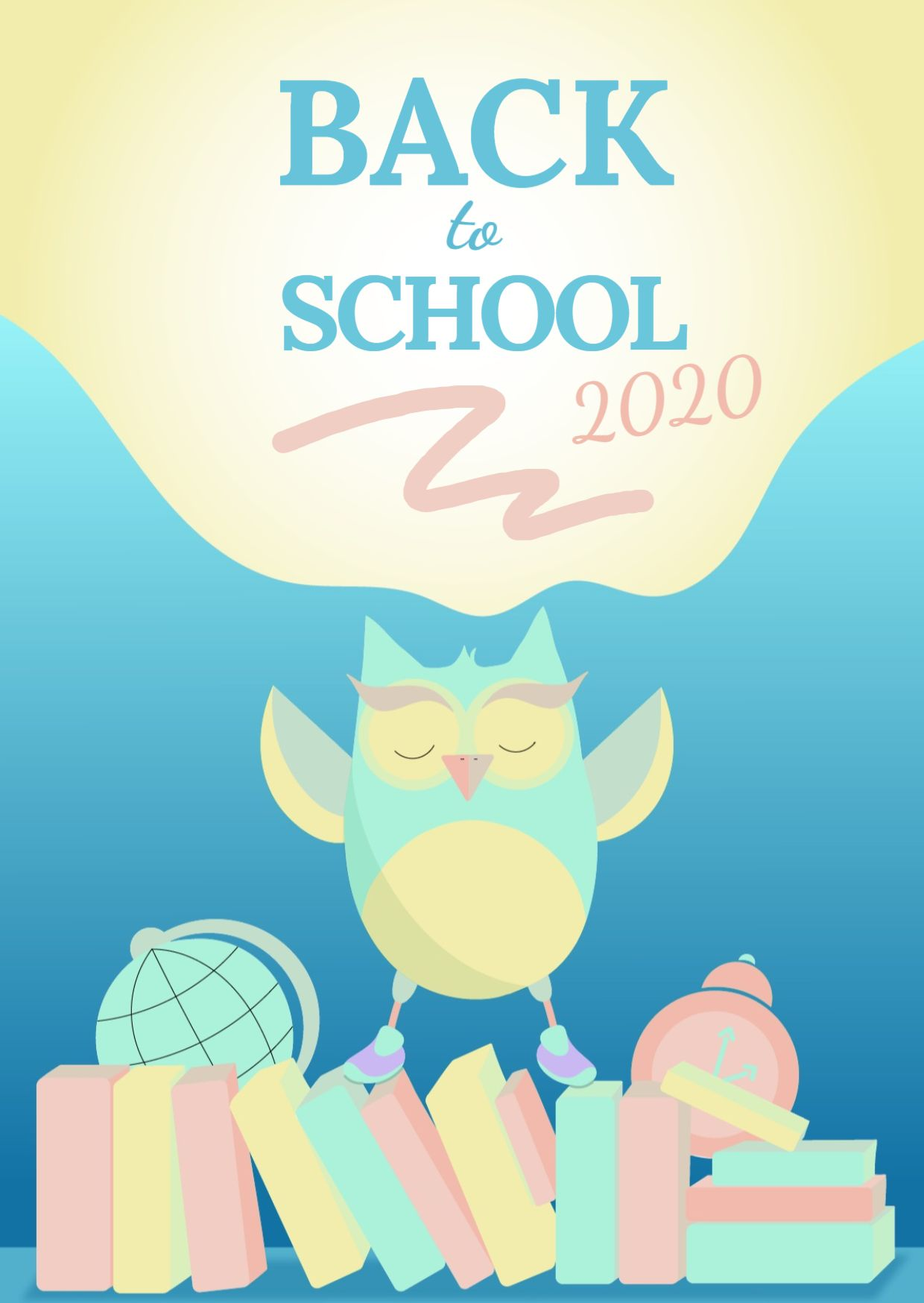 Back to school Greeting Card Template