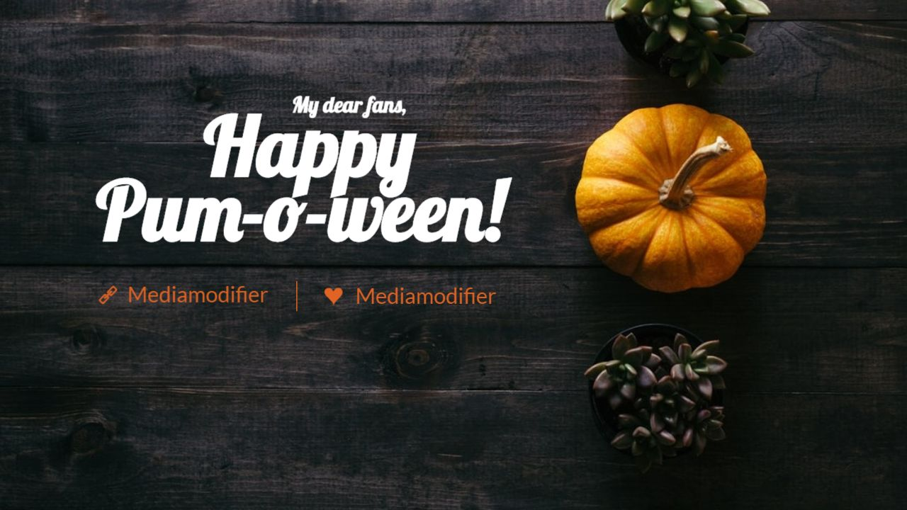 Halloween Youtube Thumbnail Cover Greeting