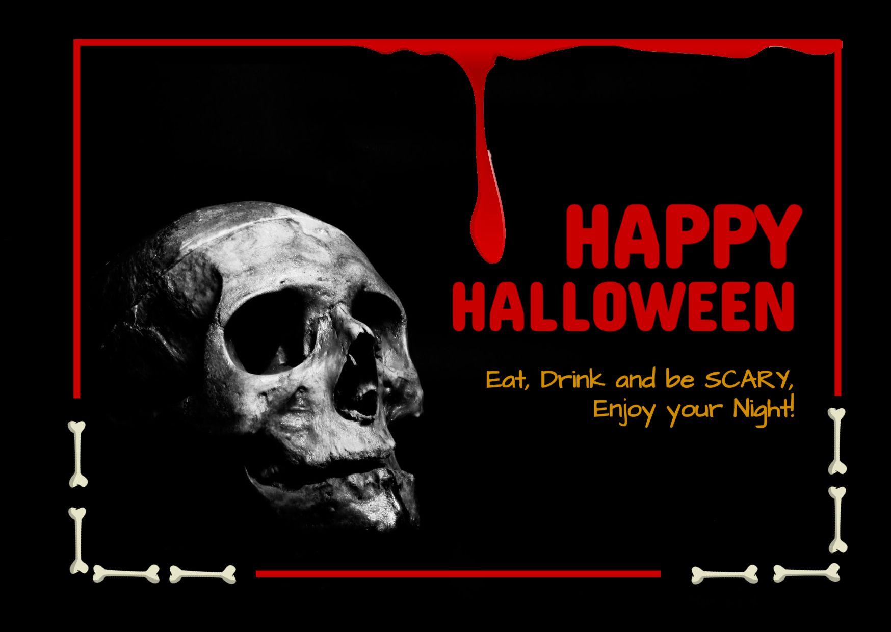 Halloween Theme Greeting Card Template