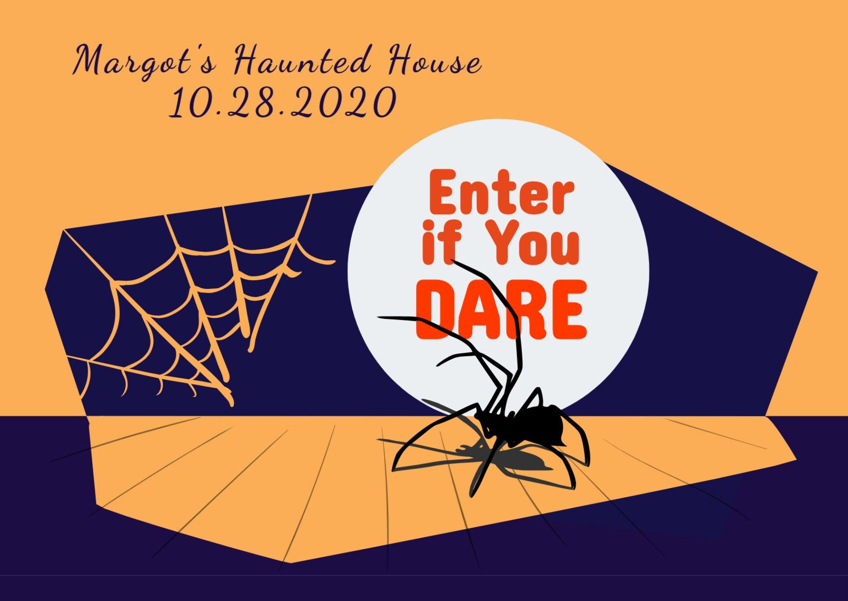 Halloween Invitation Card Template