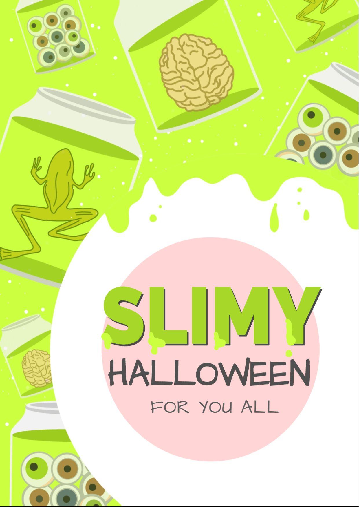 Slimy Halloween Greeting Card Template