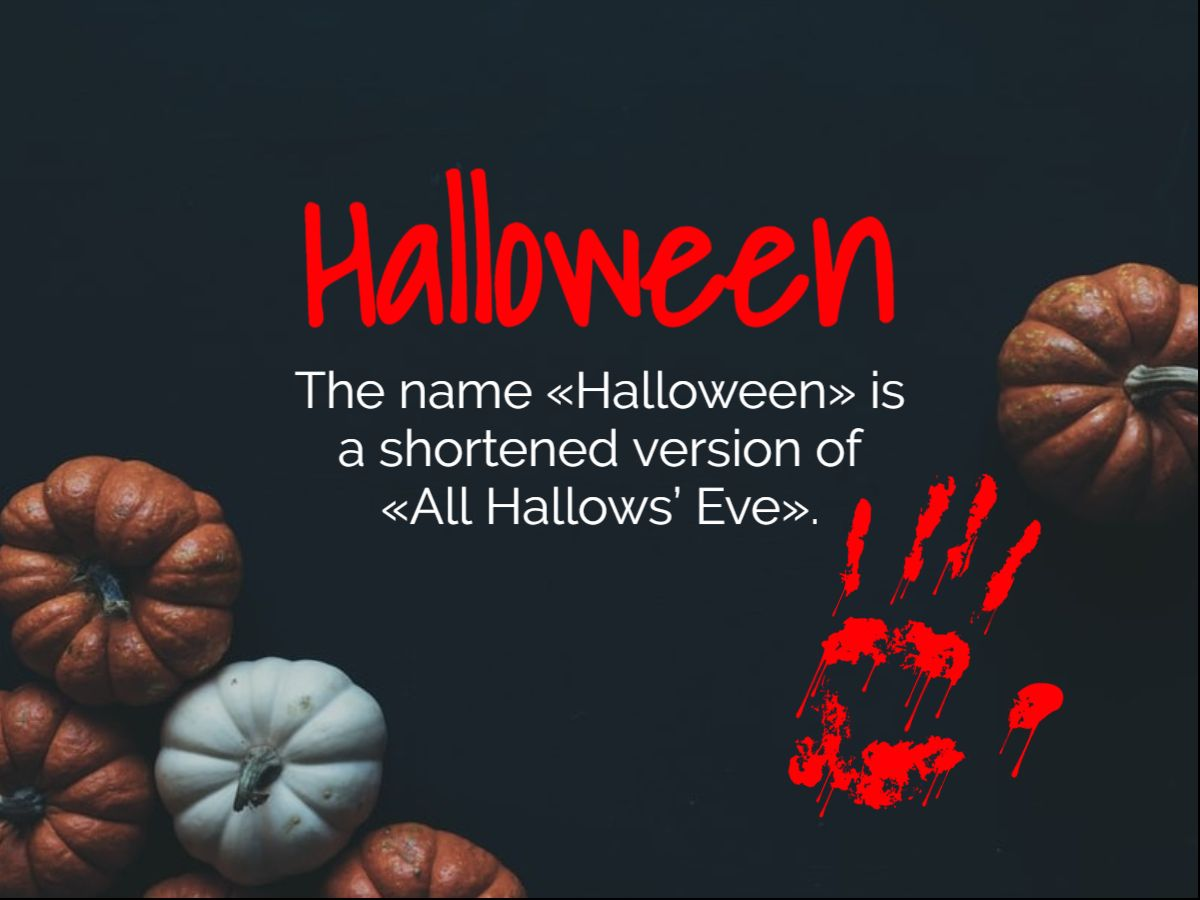 Halloween did You Know Template...