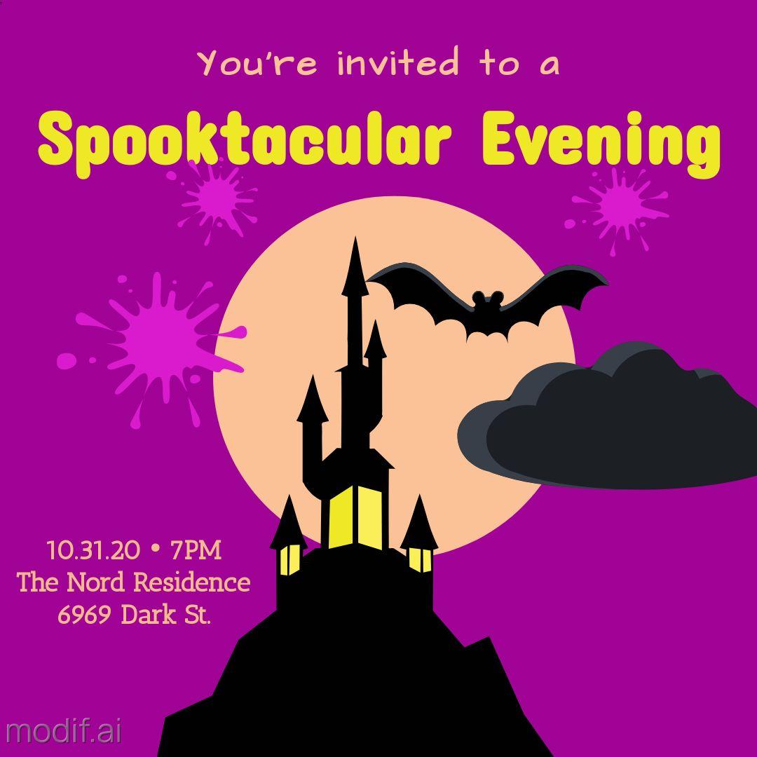 Halloween Invitation Instagram Template