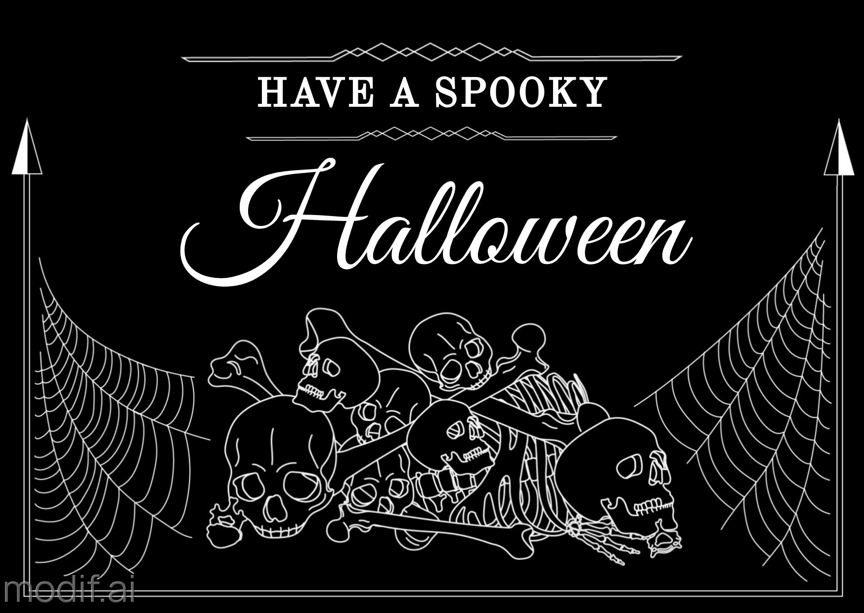 Halloween Goth Greeting Card Template