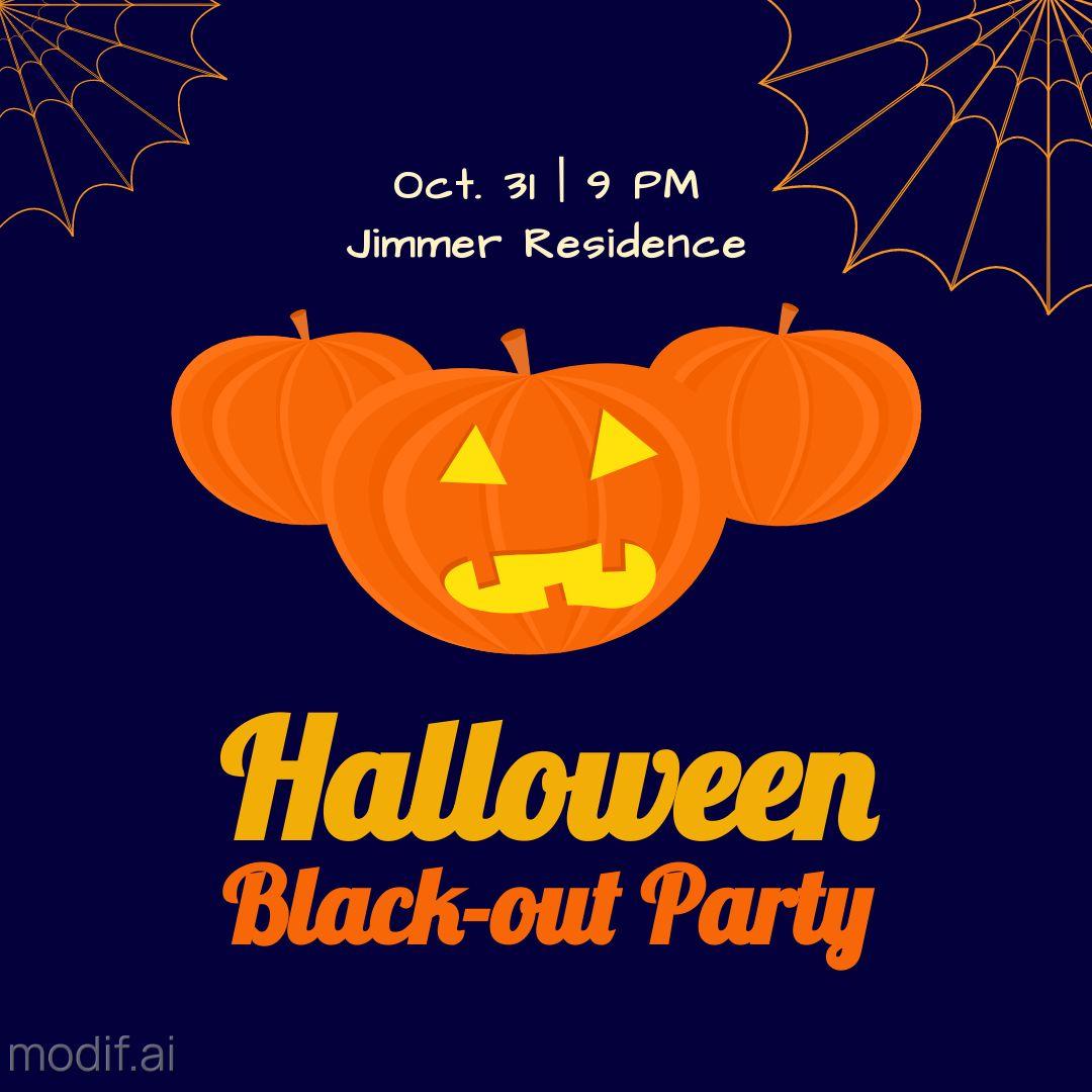 Halloween Party Invitation Instagram Template
