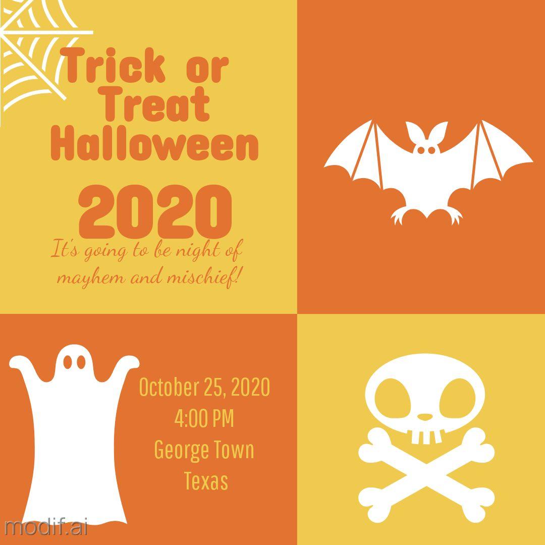 Trick or Treat Invitation Template