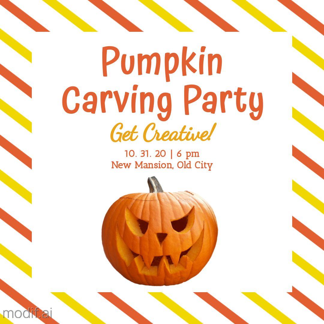 Pumpkin Party Instagram Template
