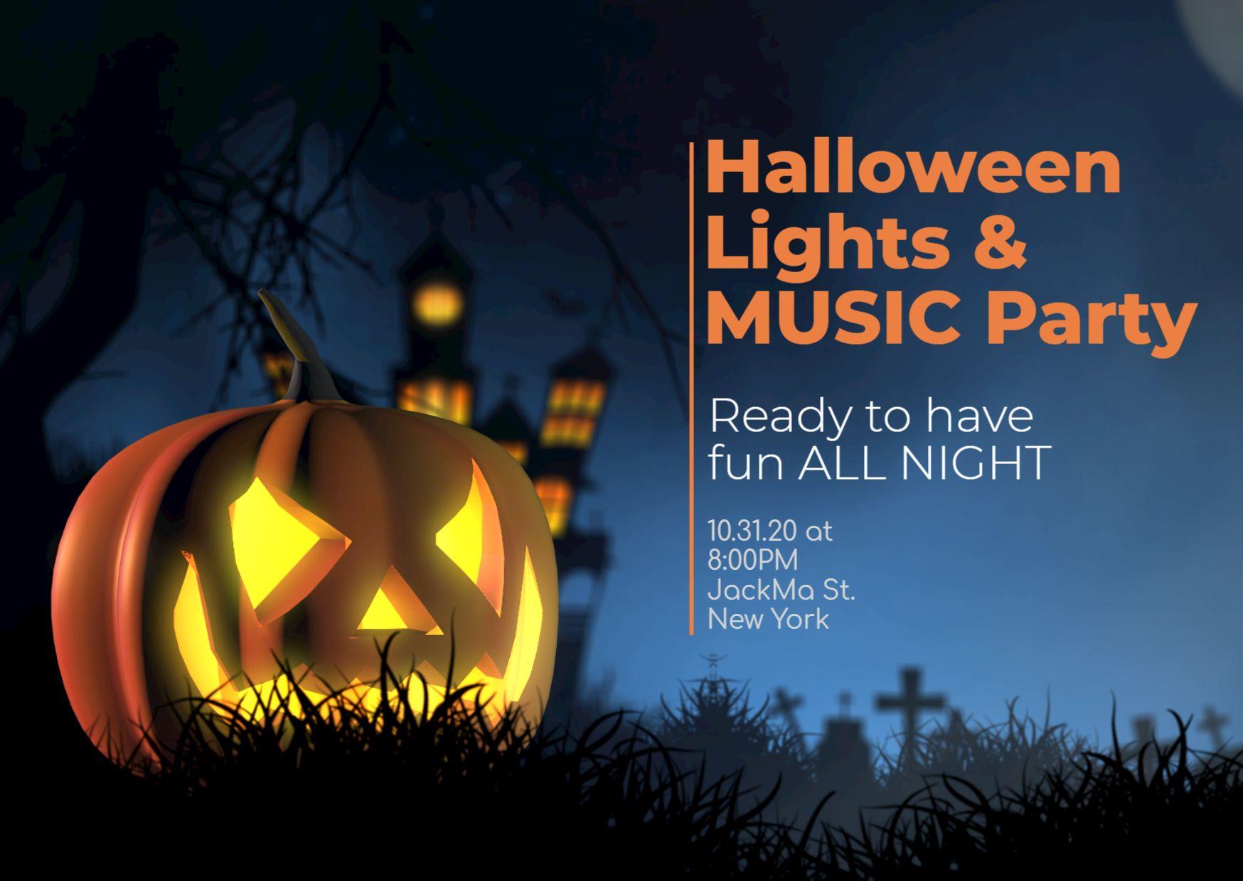 Halloween Invitation Facebook Post
