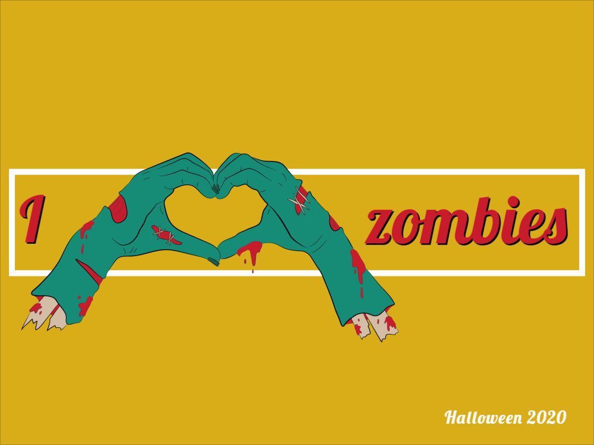 Halloween Zombie Love Facebook Post Template