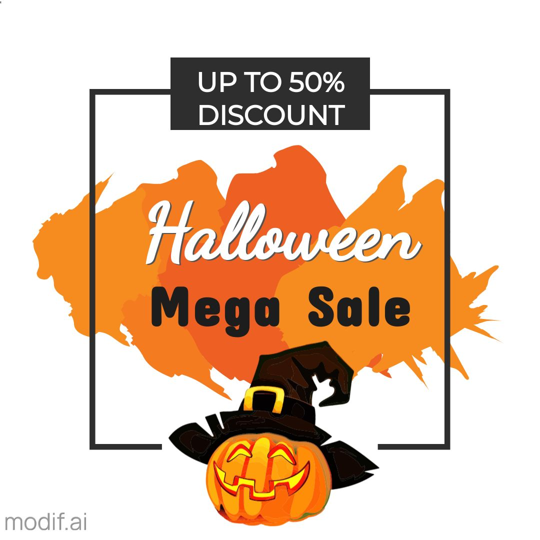 Halloween Mega Sale Instagram Template