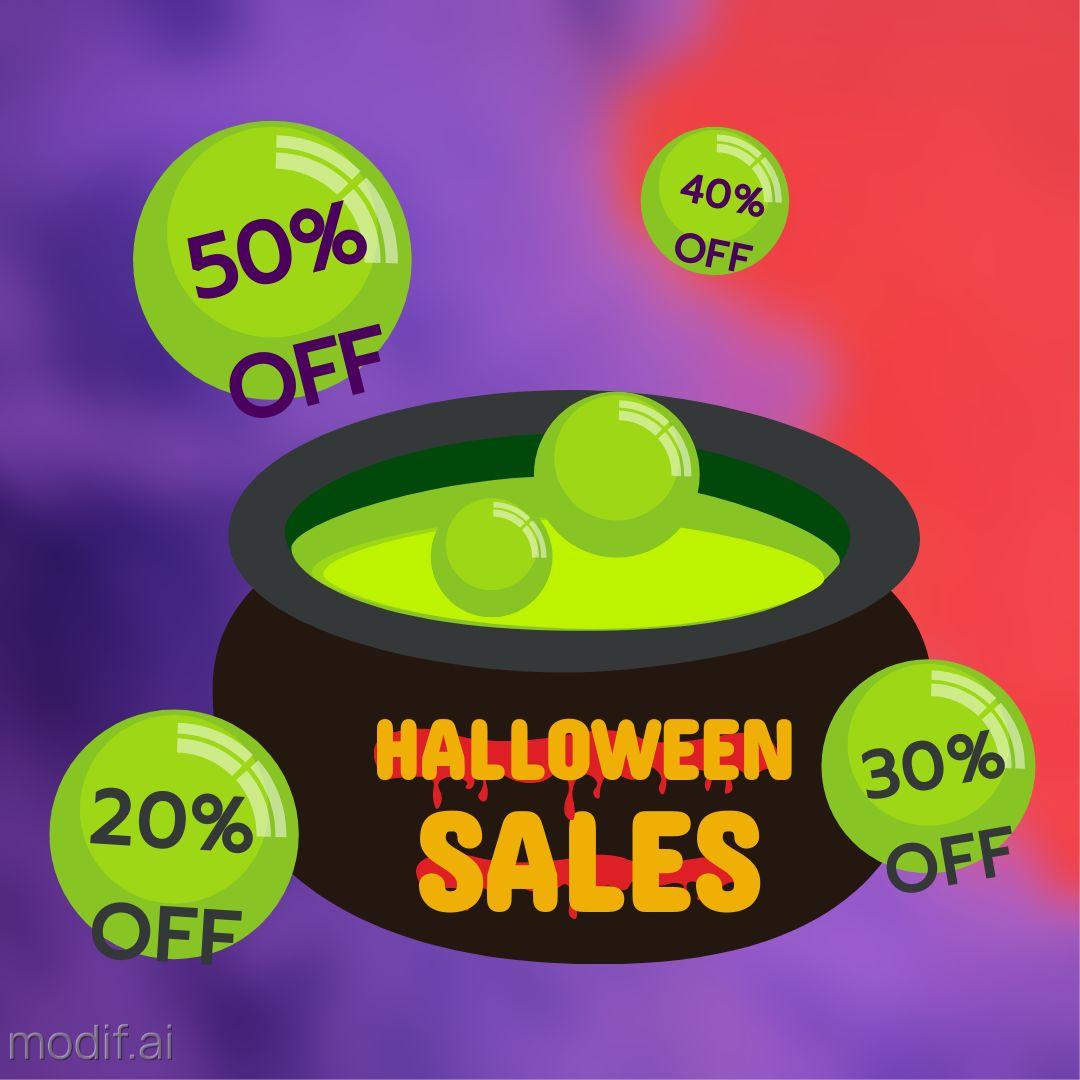 Halloween Sale Banner Template
