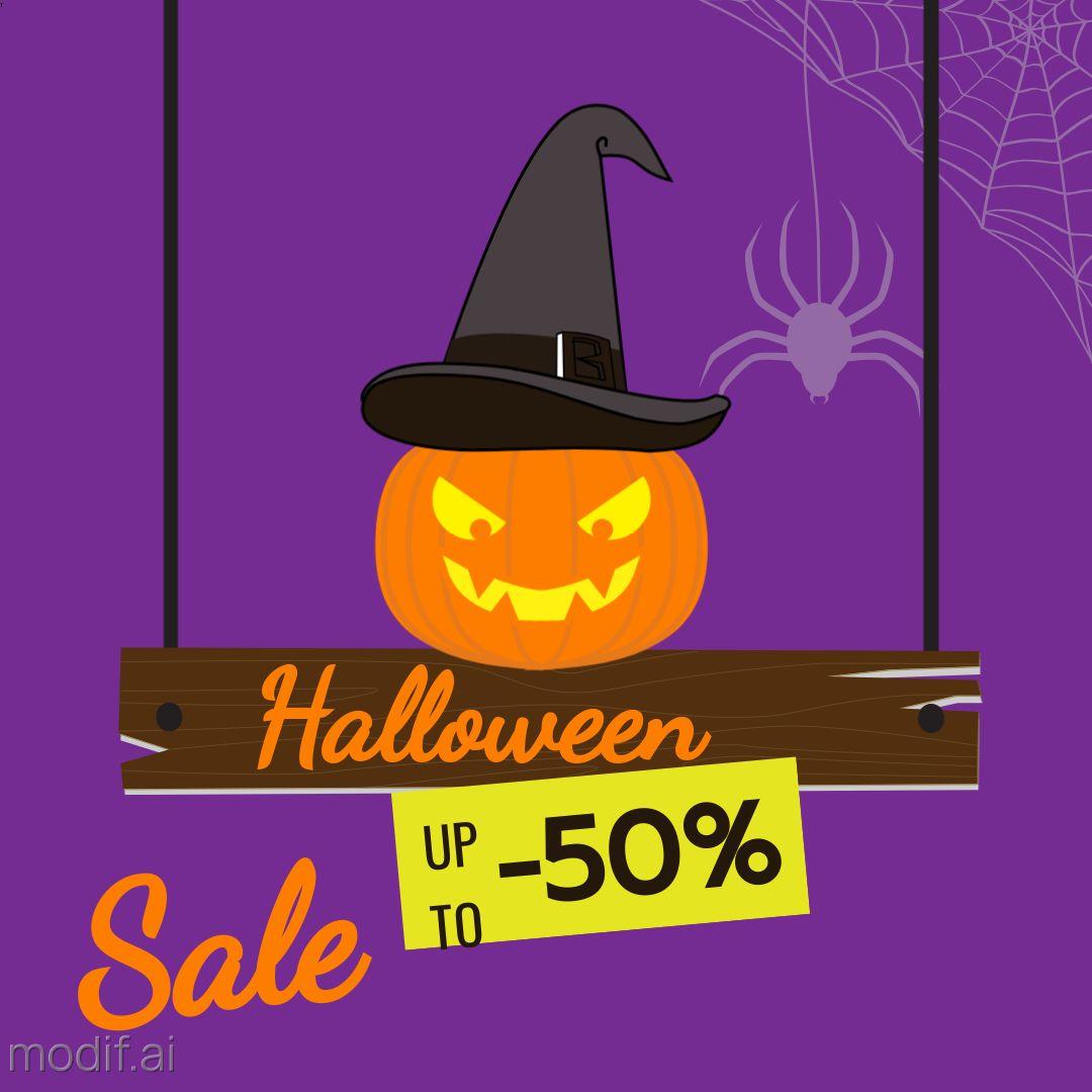 Halloween Sale Instagram Template