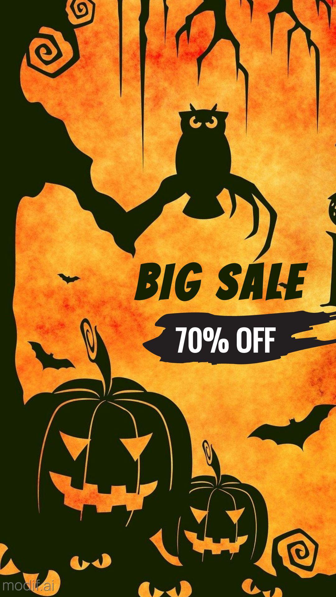 Halloween Sale Discount Instagram Story Template