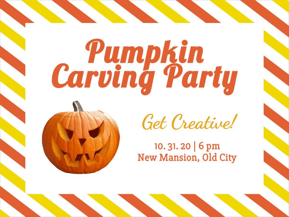 Pumpkin Party Facebook Template