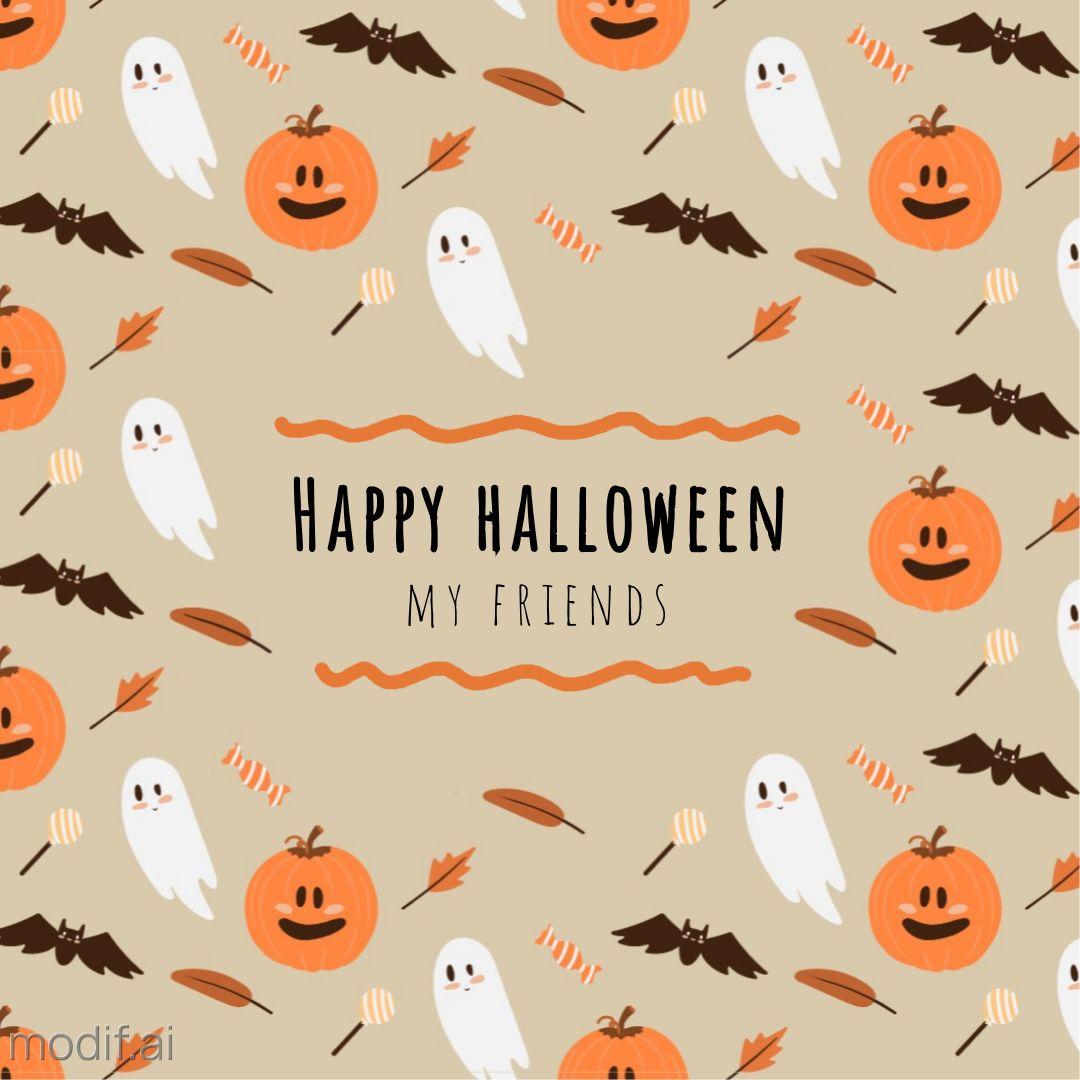 Halloween Pattern Instagram Post Template