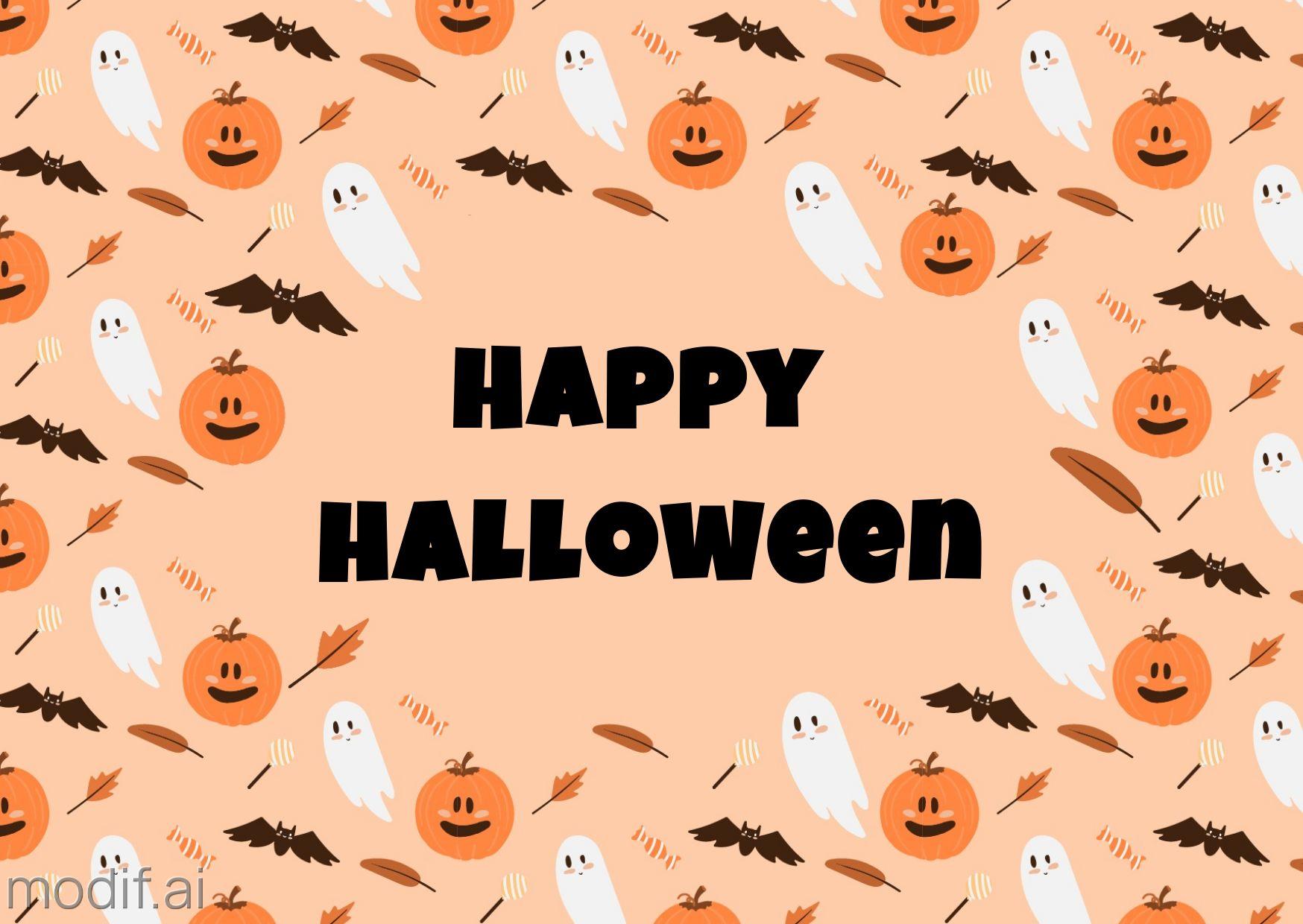 Halloween Pattern Facebook Post Template