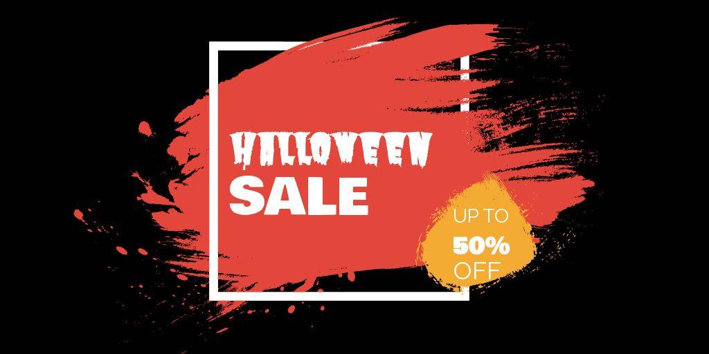 Halloween Discount Sale Twitter Post