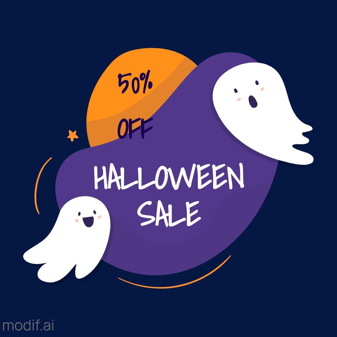 Big Halloween Sale Instagram Post