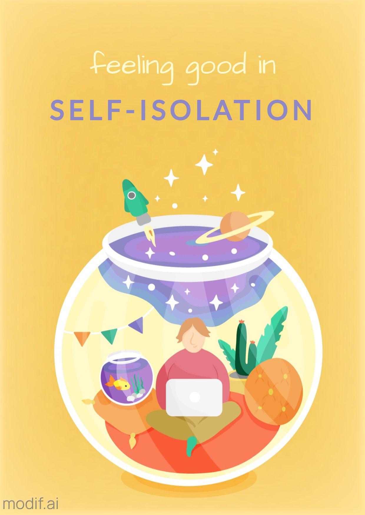 Self Isolation Corona Greeting Card Template
