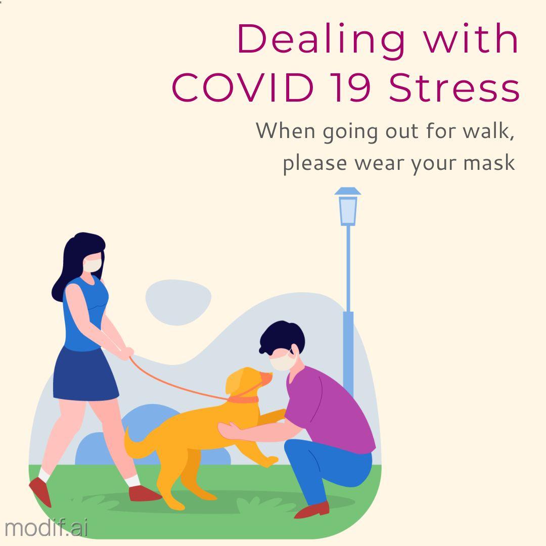 COVID Stress Awareness Instagram Post Design
