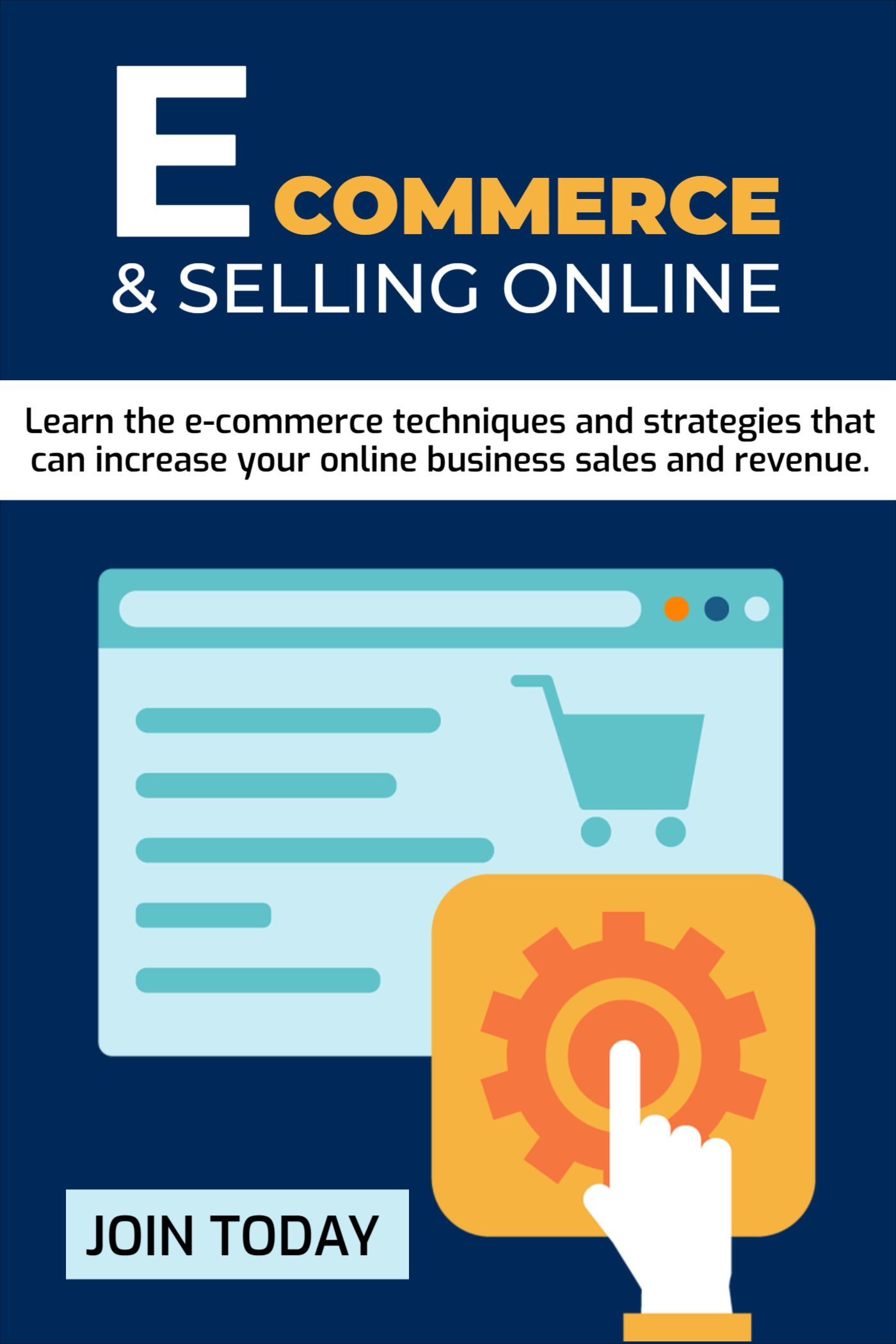 Ecommerce Online Course Cover Design