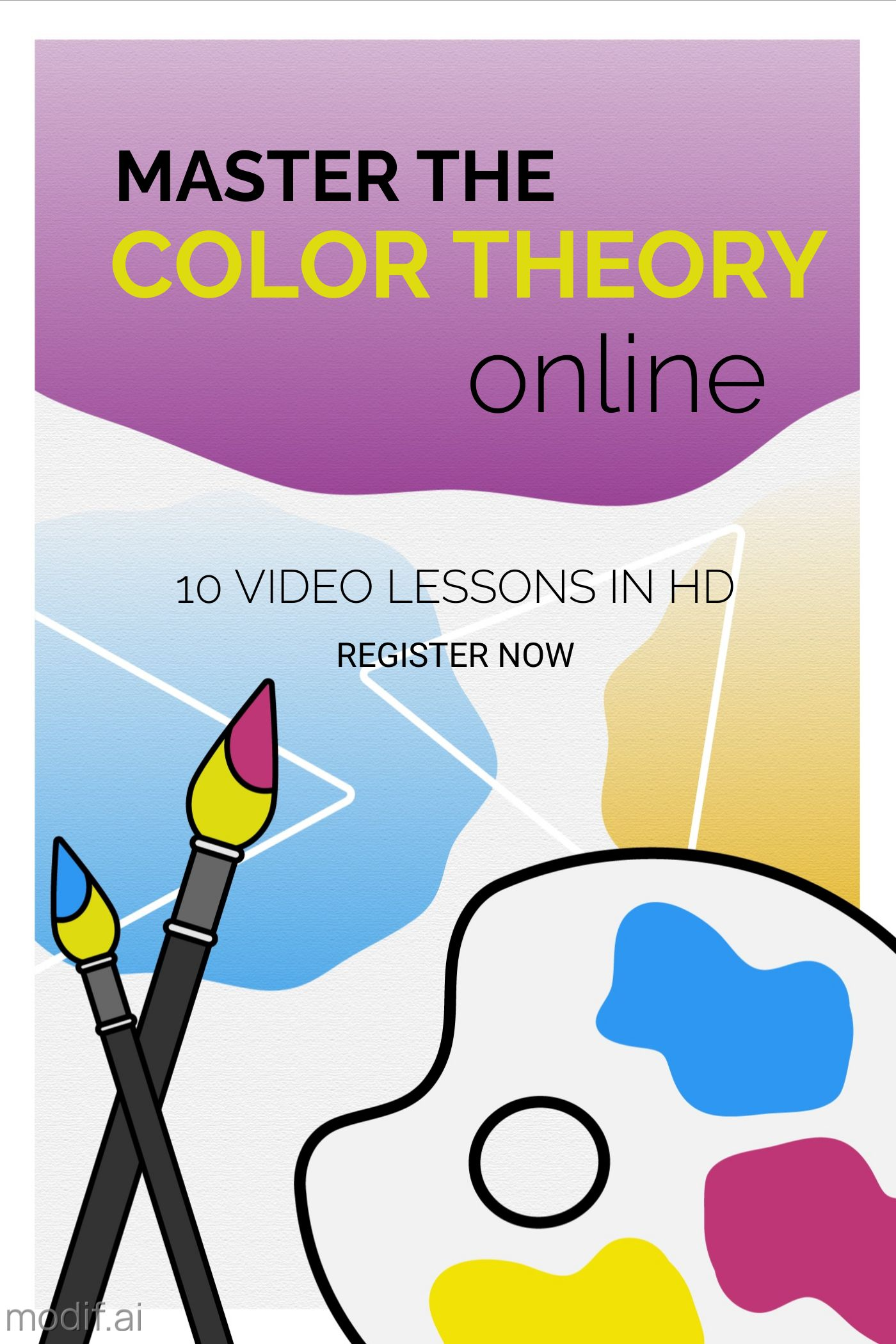 Colour Theory Online Course Book Cover Template