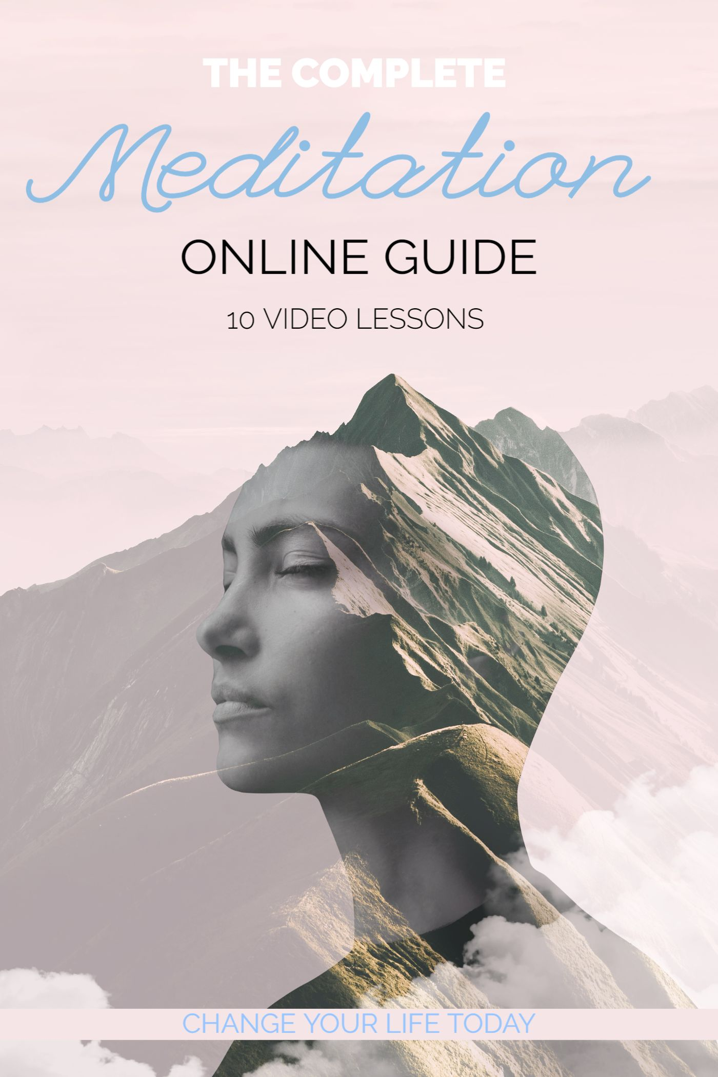 Meditation Online Course Book Cover Template
