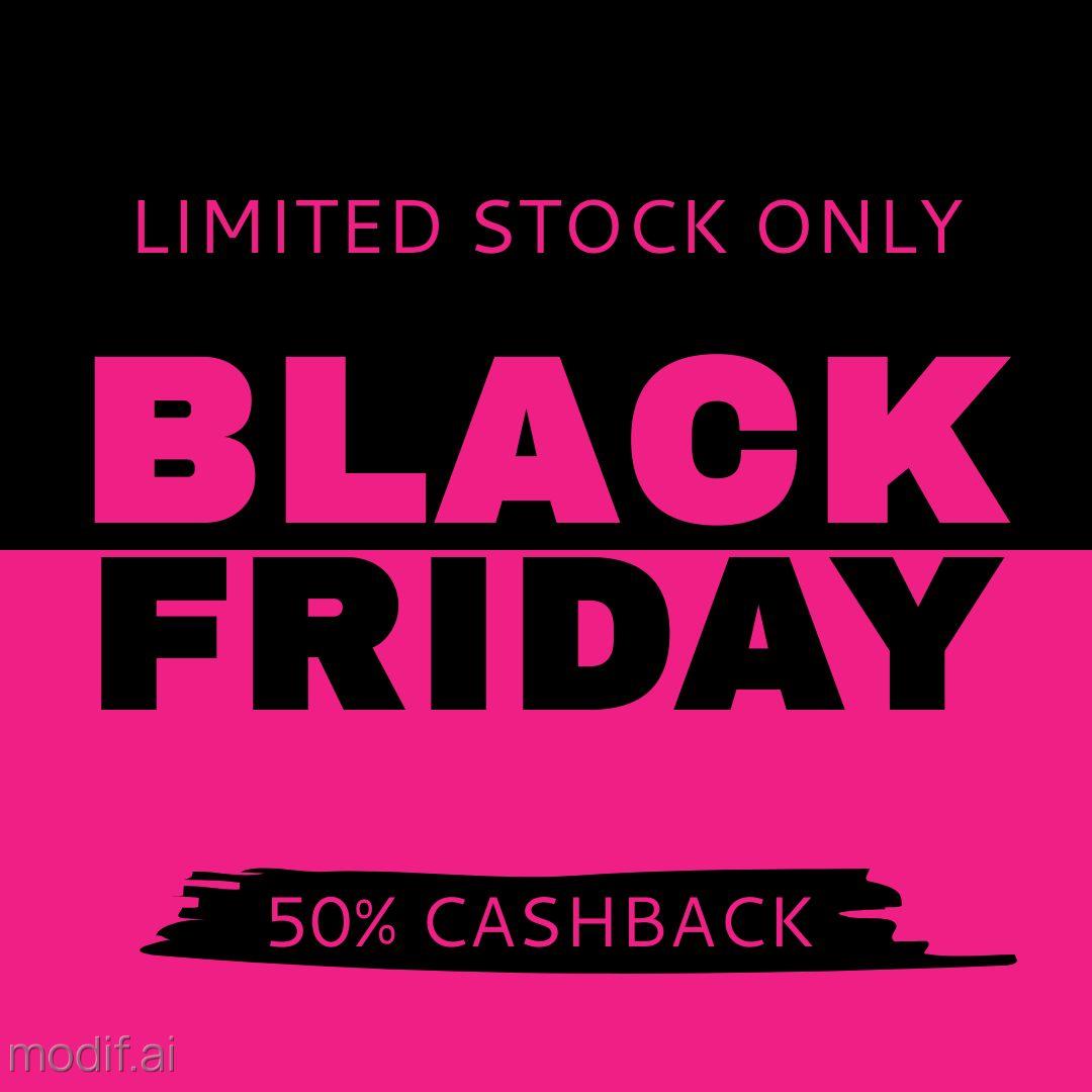 Black Friday Cashback Offer Instagram Template