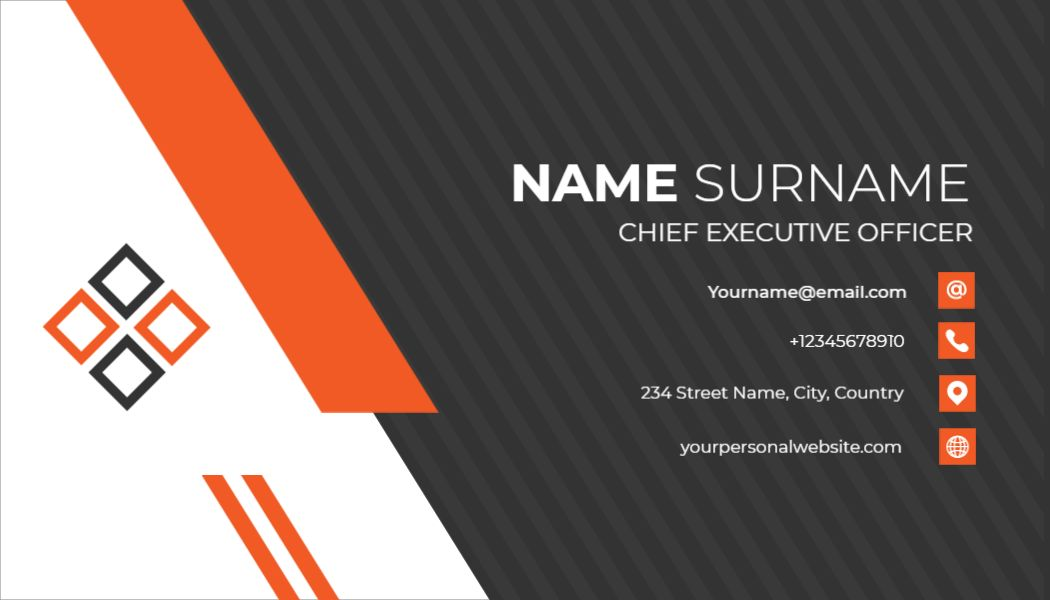 Professional Business Card Template - Back Side