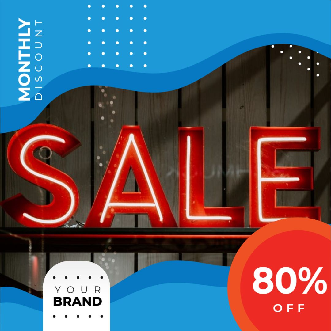 Instagram Post Sale Template - Monthly