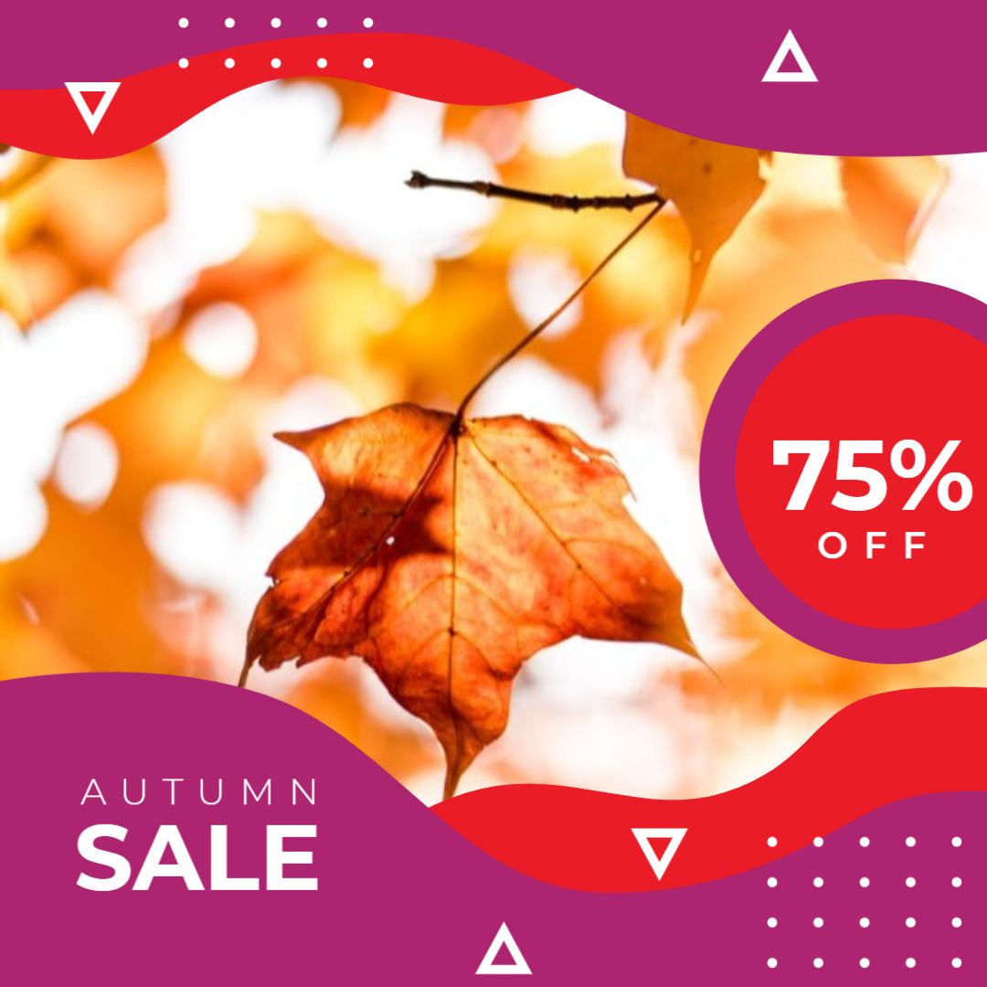Instagram Post Sale Template - Autumn