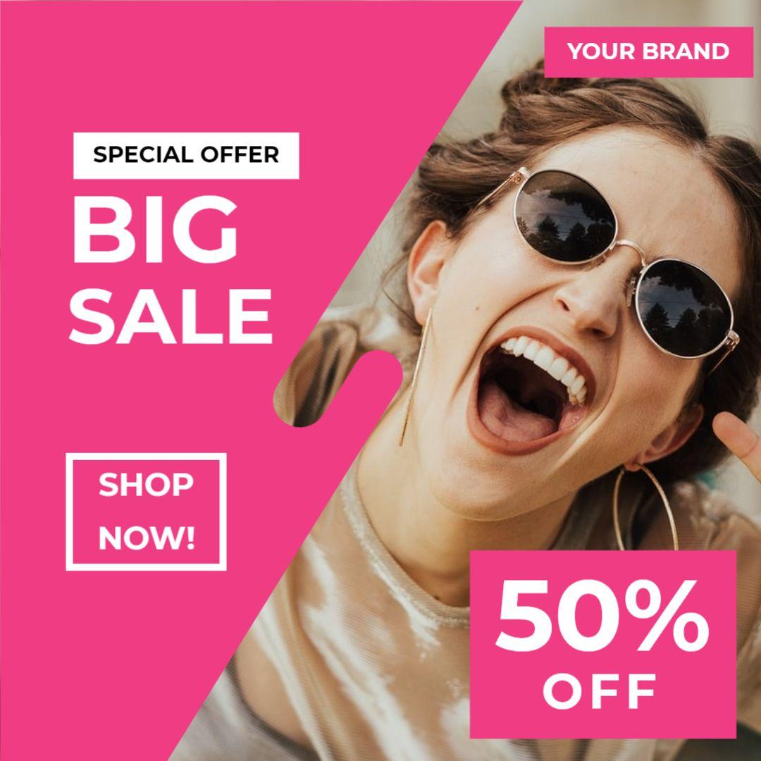 Instagram Post Sale Template - Big Sale