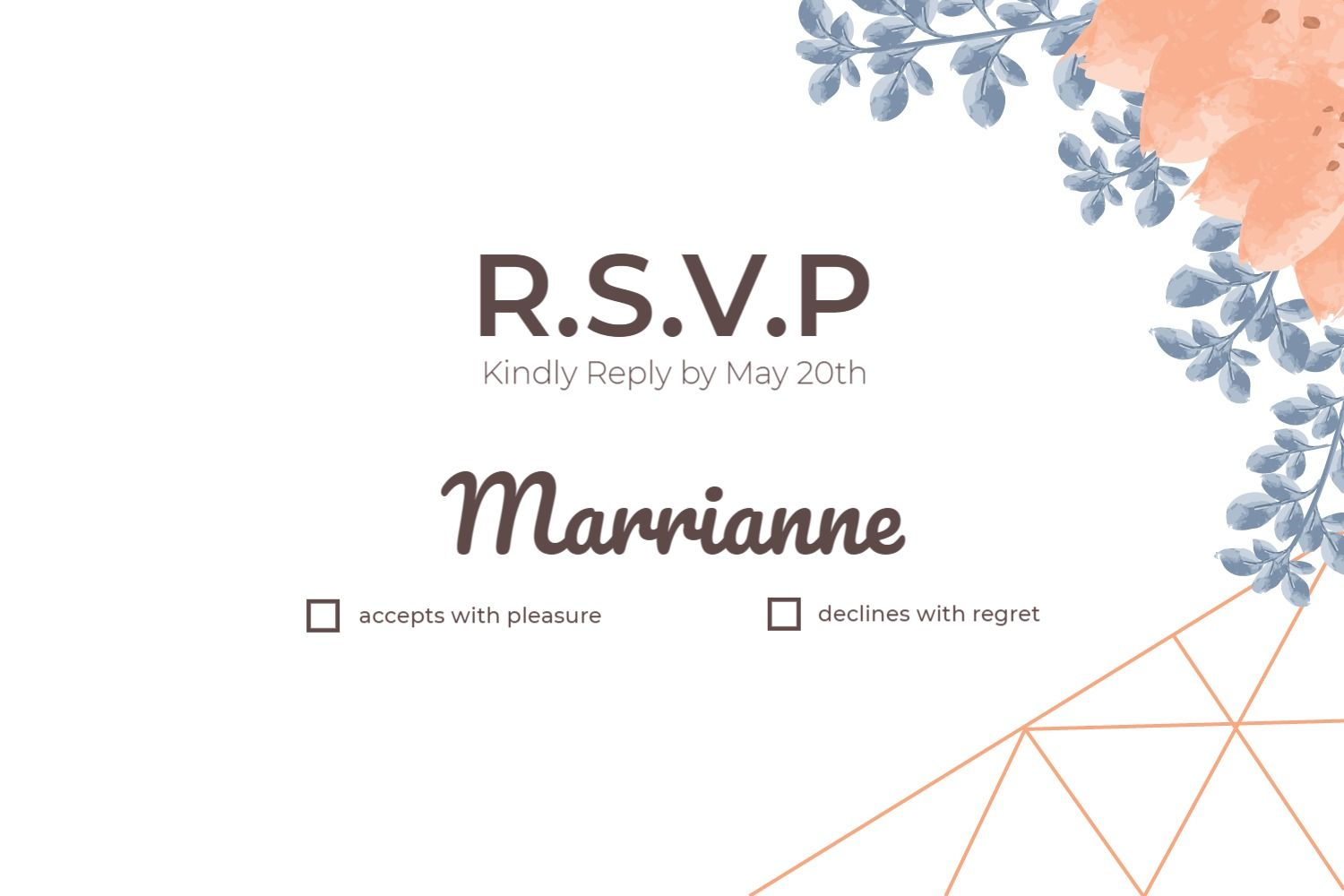 Colorful Wedding Invitation Template - Reservation