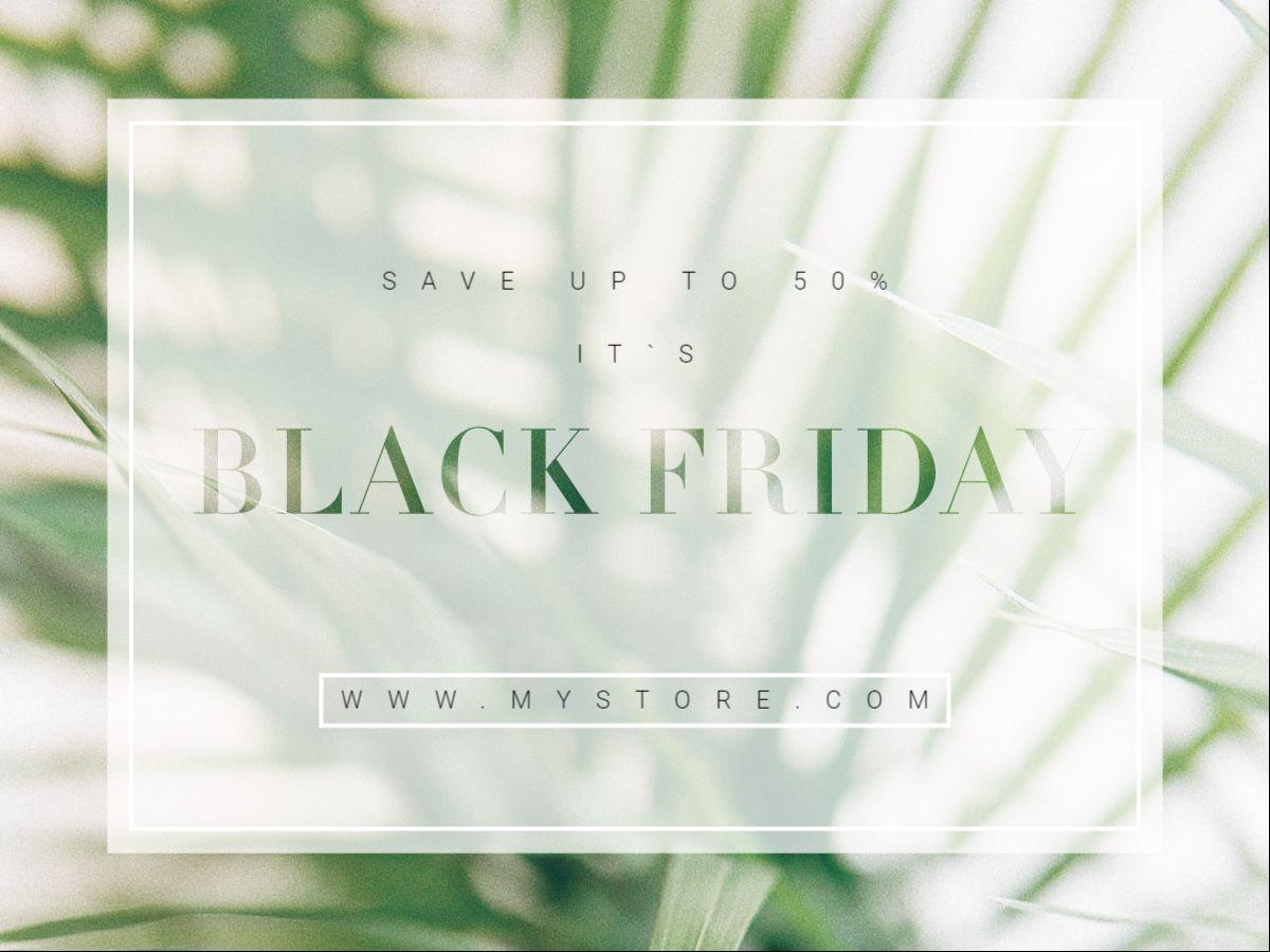 Black Friday Facebook Post Template