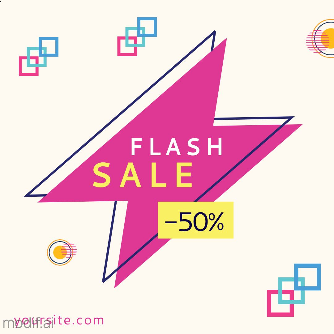 Flash Sales Discount Offer Instagram Template