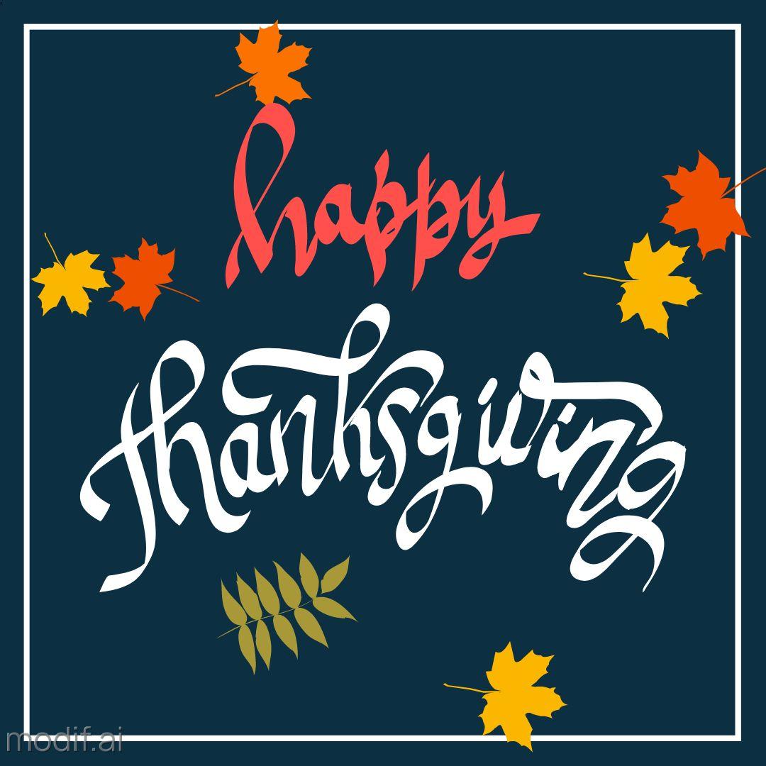 Thanksgiving Themed Instagram Template
