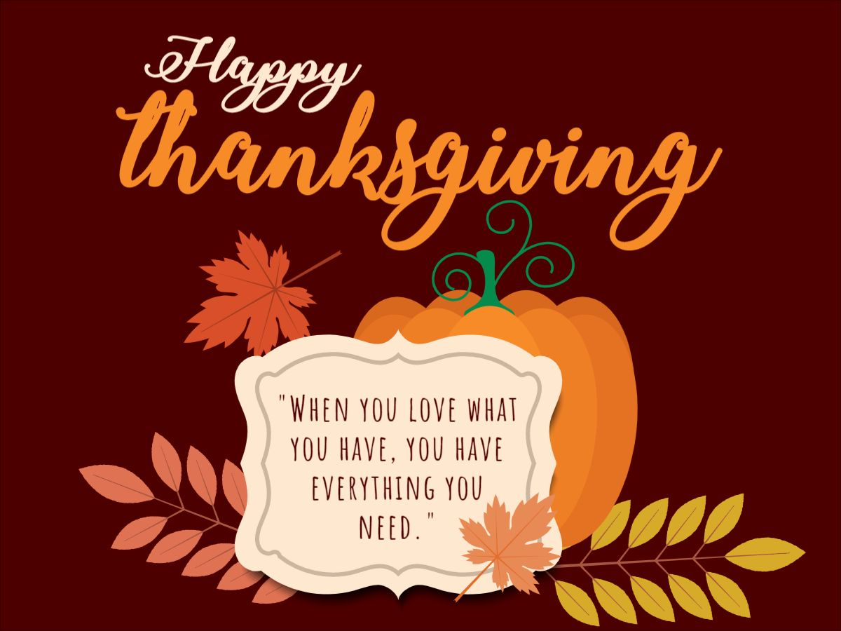 Thanksgiving Quote Facebook Template