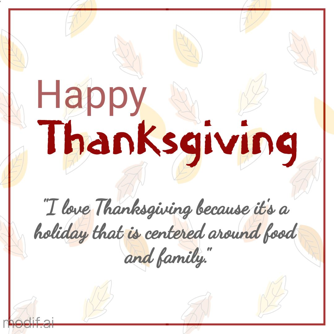 Thanksgiving Quote Instagram Template
