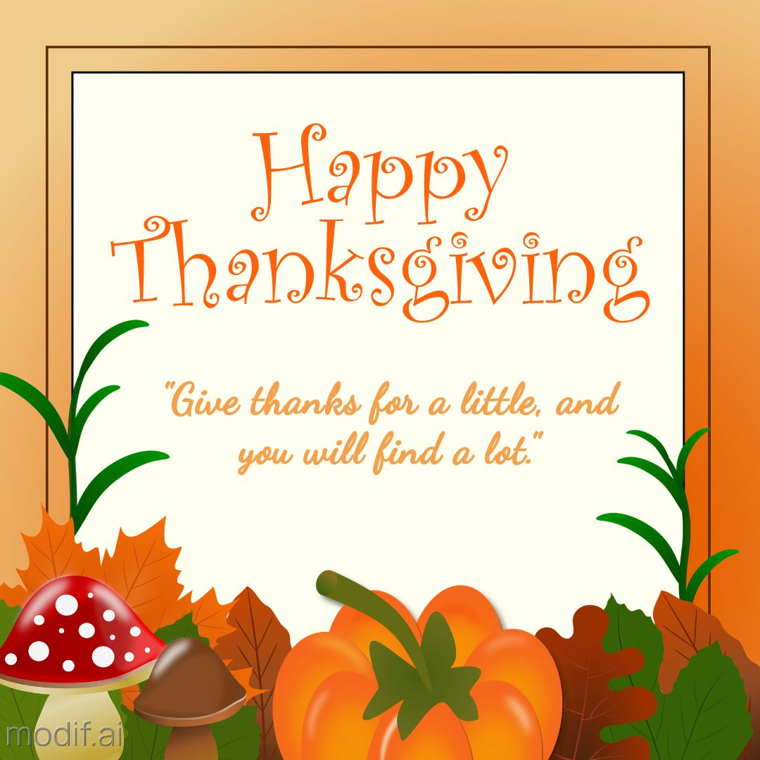 Happy Thanksgiving Instagram Template