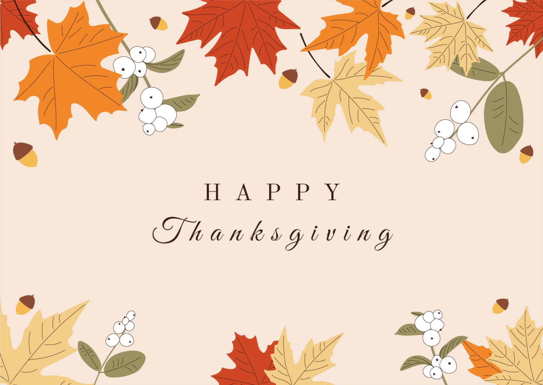 Thanksgiving Card Greeting Card Template